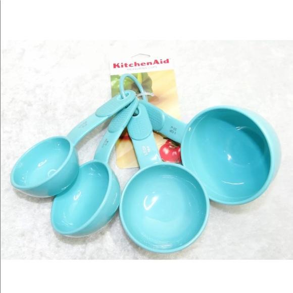 Aqua Sky 5 Piece Measuring Spoons Set New KitchenAid